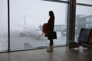 It's 'business as usual' at Gardemoen Airport, Oslo, despite extreme weather conditions. Credit: Nivek Neslo / Getty