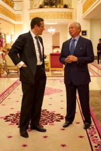 CNN.Richard Quest and Najib Razak
