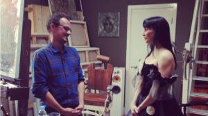 'CNN Ones to Watch' first master, British portrait artist Jonathan Yeo, prepares to paint Tamara Rojo