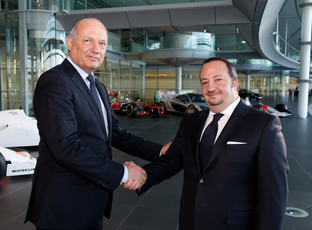 Rani Raad and Ron Dennis launch partnership