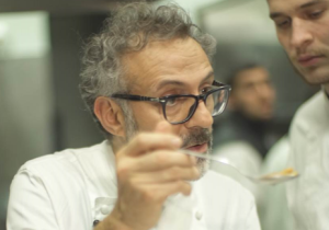 The first episode features  Italian chef Massimo Bottura