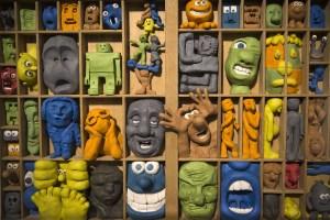 Figurines from the studios of Aardman Animations, Bristol. Credit: Joel Saget / Getty